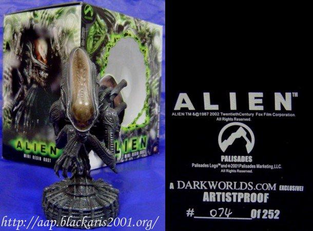 Alien Mini Resin Bust