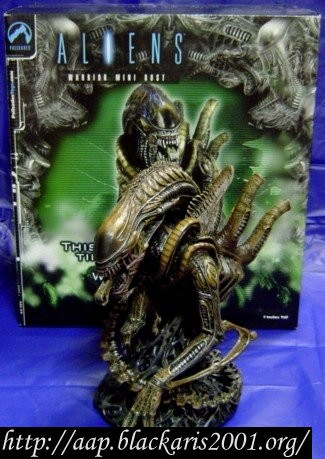 Alien Warrior Mini Resin Bust